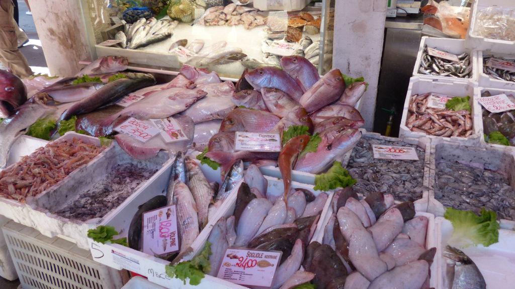 Auswahl am Fischmarkt